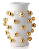 Dolfi Medium Vase with Golden Spheres