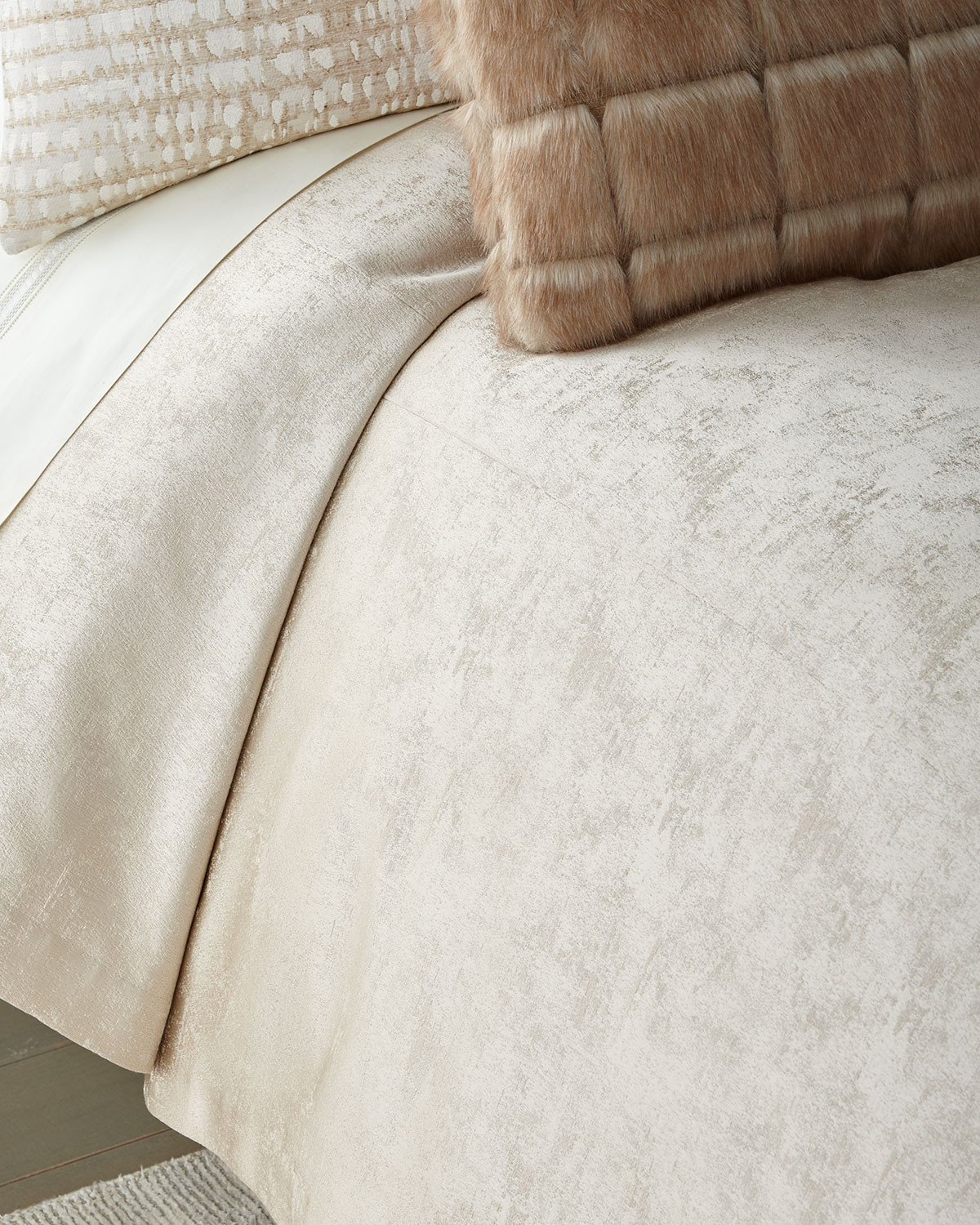 Shimmer Flax Queen Coverlet