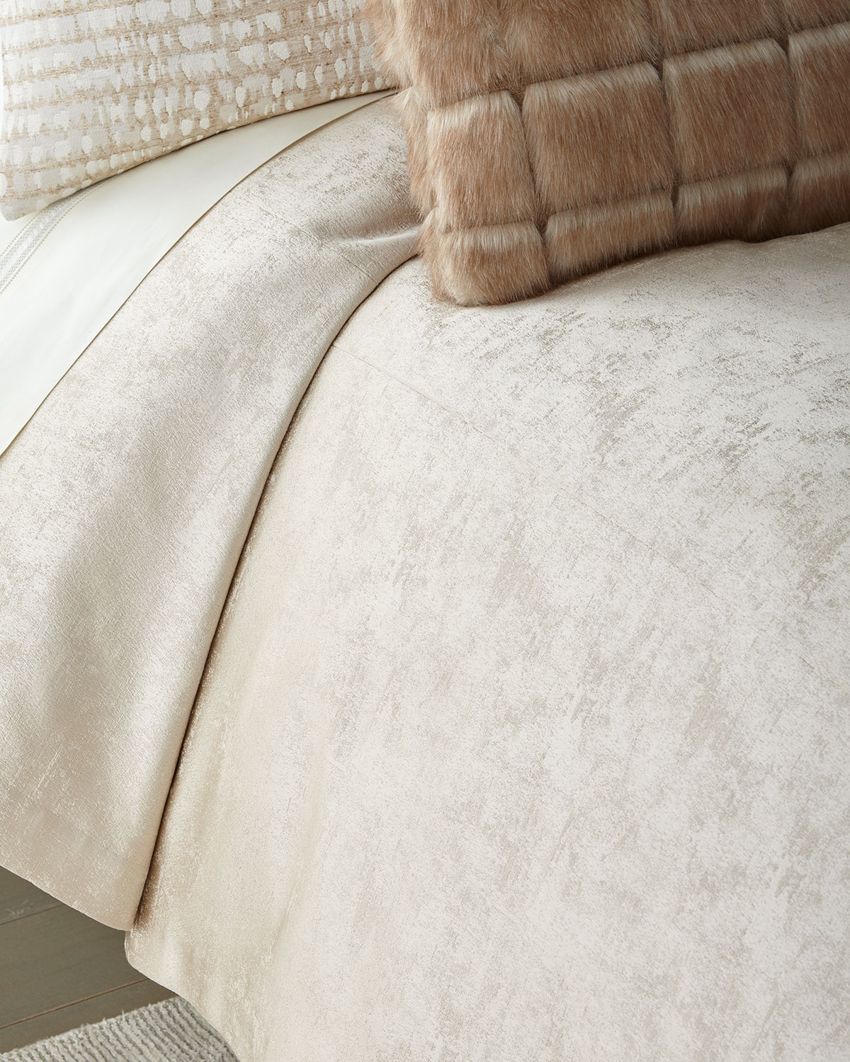 Shimmer Flax King Coverlet