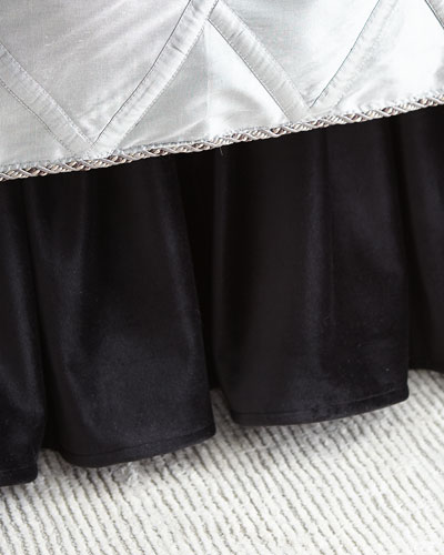 Bianca Gathered Velvet Dust Skirt