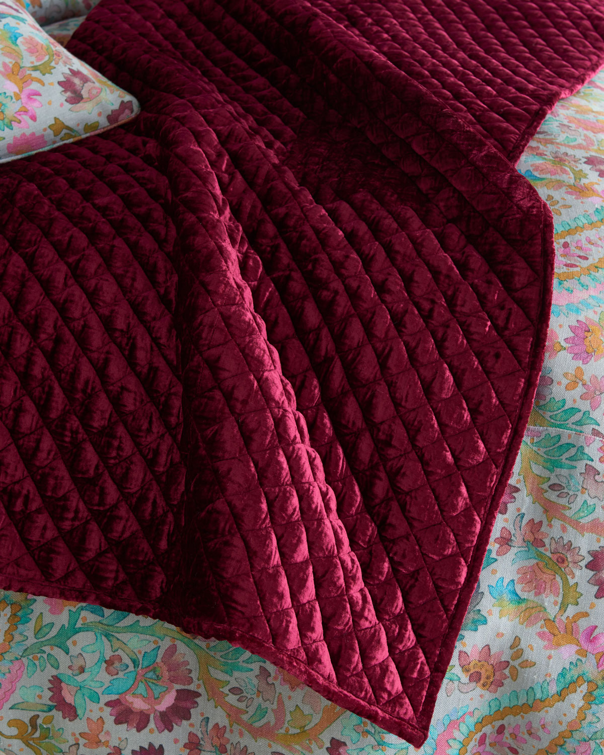 Patina Velvet Throw Blanket