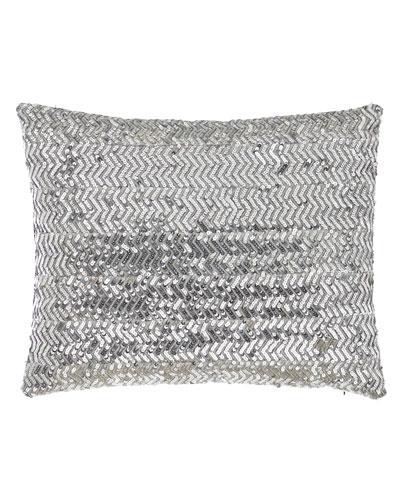 Bianca Silver Sequin Pillow