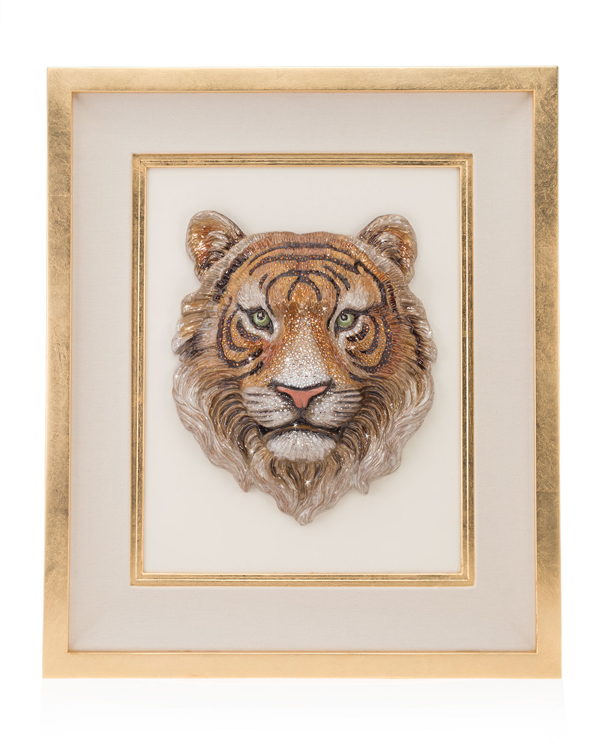 Jay Strongwater Clothing TIGER HEAD WALL ART