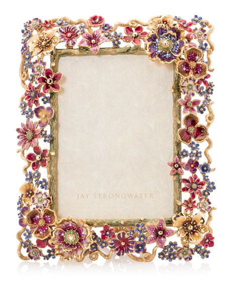 """Jay Strongwater Floral Cluster Picture Frame, 5"""" x 7"""""""