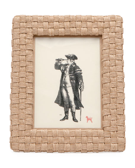 """Pigeon and Poodle Genova Natural Rope Picture Frame, 5"""" x 7"""""""