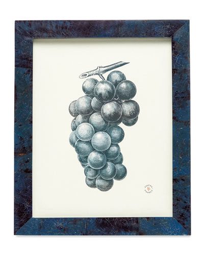 Colmar Dark Blue Shell Picture Frame, 8
