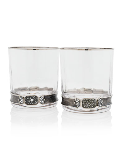 Double Old Fashioned Glasses, Set of 2