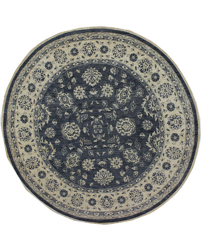 One-of-a-Kind Hand-Knotted Rug, 8'Dia.