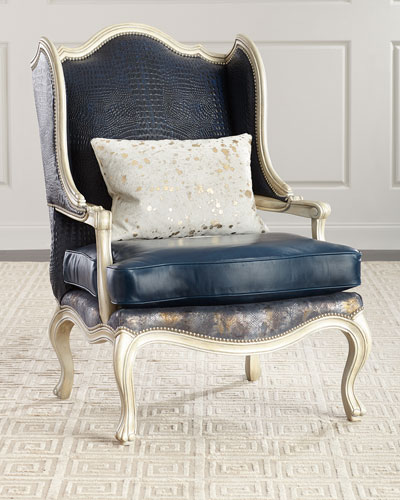 Darling Leather Wing Chair