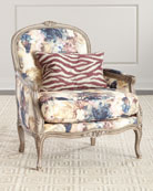 Massoud Windsor Floral Bergere Chair