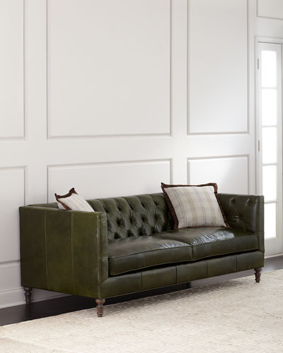 Etonnant Mackenzie Tufted Leather Sofa
