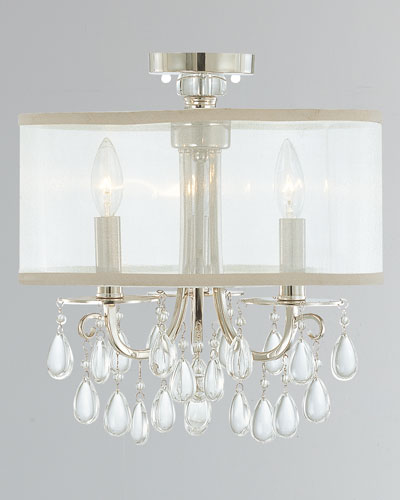 Neiman Marcus Lighting For Hampton 3light Chrome Clear Crystal Drum Shade Chandelier Lighting Neiman Marcus