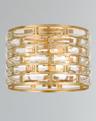 Crystorama Meridian 3-Light Antiqued Gold Ceiling Mount