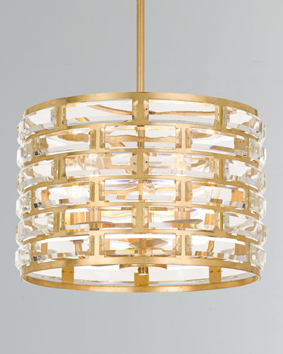 Meridian 5-Light Antiqued Gold Chandelier