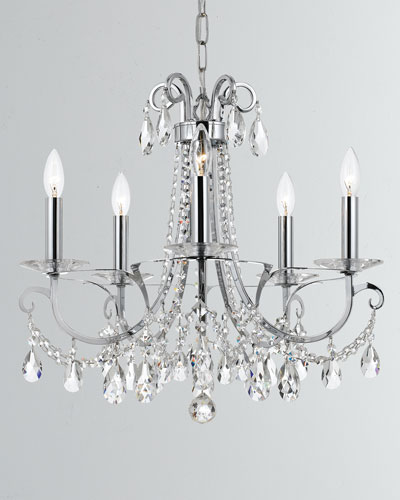 Othello 5-Light Clear Crystal Polished Chrome Chandelier