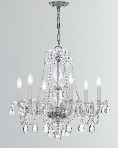 Traditional Crystal 6-Light Crystal Chrome Chandelier