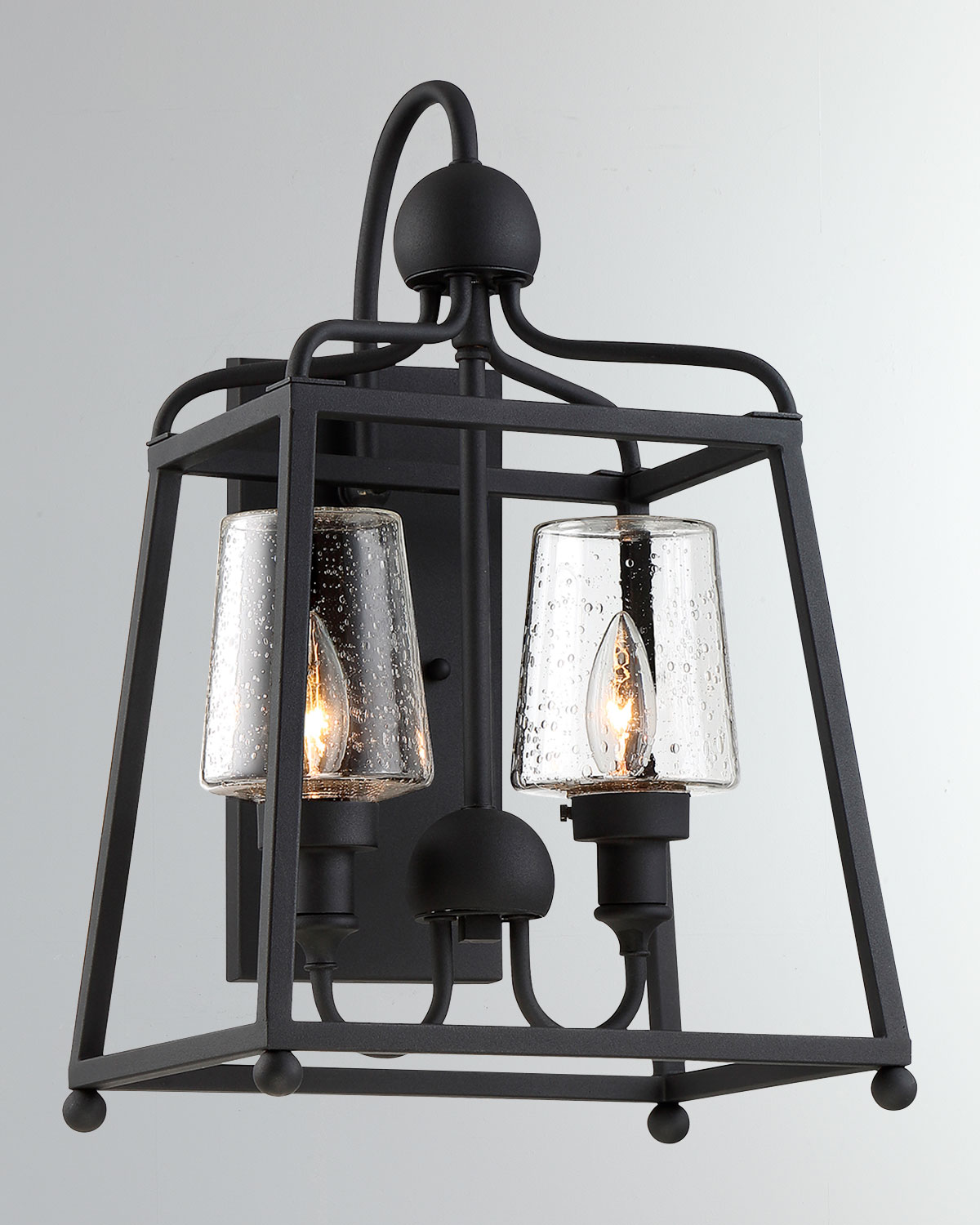Libby Langdon Sylvan 2Light Black Forged Outdoor Wall Mount