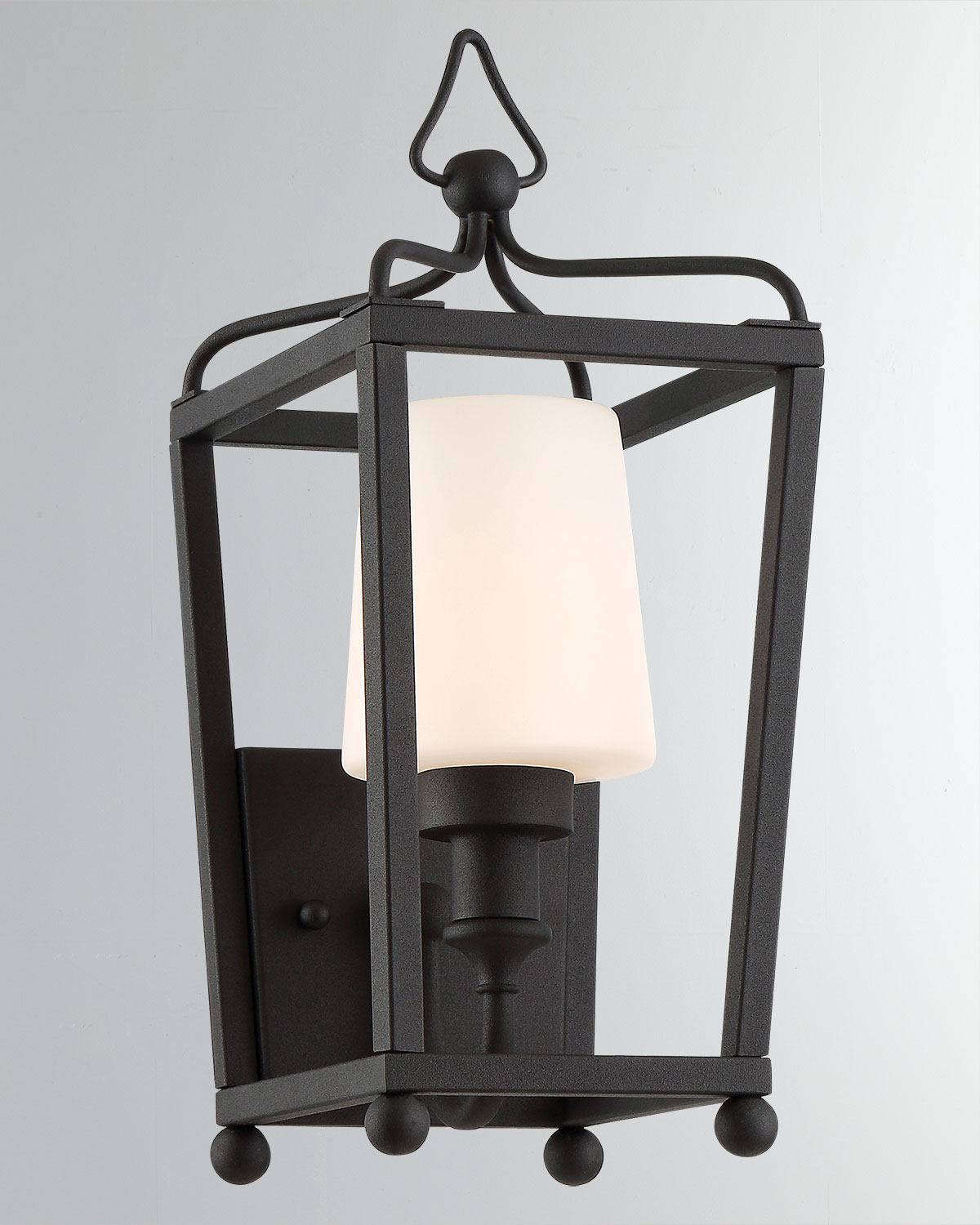 Libby Langdon Sylvan 1Light Black Forged Outdoor Wall Mount