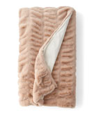 Fabulous Furs Couture Blush Faux-Mink Throw Blanket