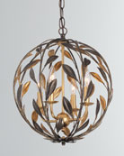 Crystorama Broche 4-Light English Bronze and Antiqued Gold