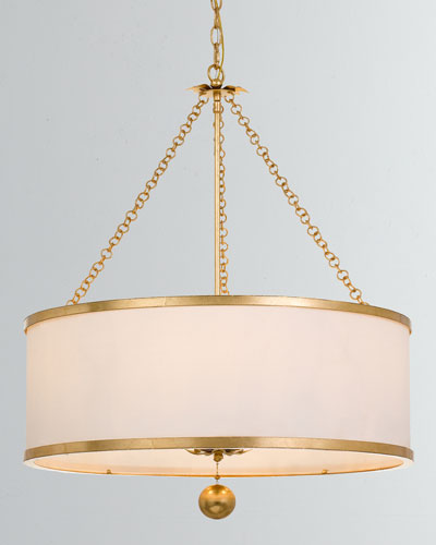 Broche 6-Light Antiqued Gold Chandelier