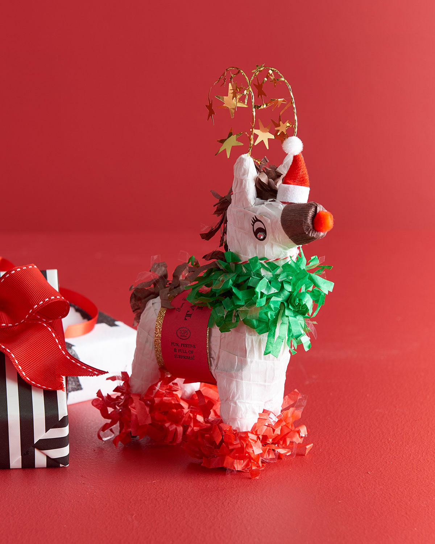 Mini Tabletop Red-Nosed Reindeer Pinata