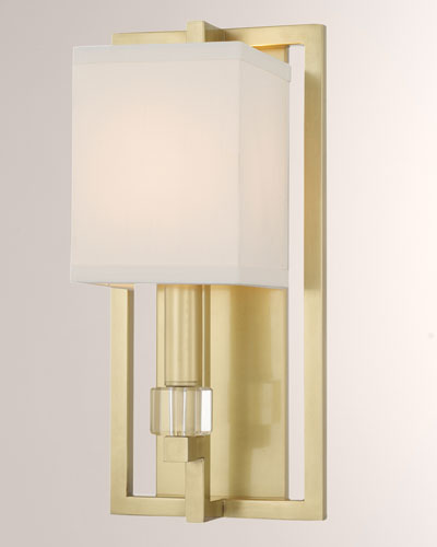 Neiman Marcus Lighting To Dixon 1light Polished Nickel Sconce With Drum Shade Lighting Neiman Marcus