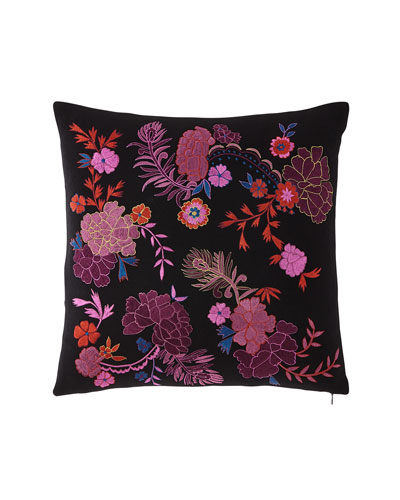 Bohemian Floral Embroidery Pillow