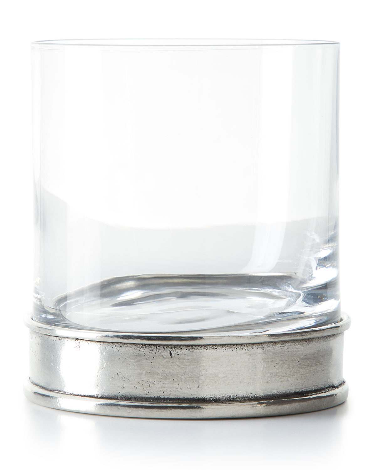 Pewter and Glass Double Old-Fashioned