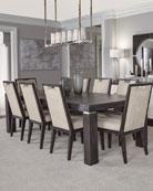 Bernhardt Decorage Stainless Trim Dining Table