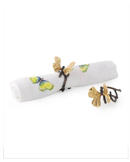 Michael Aram Butterfly Ginkgo Napkin Rings, Set of 4
