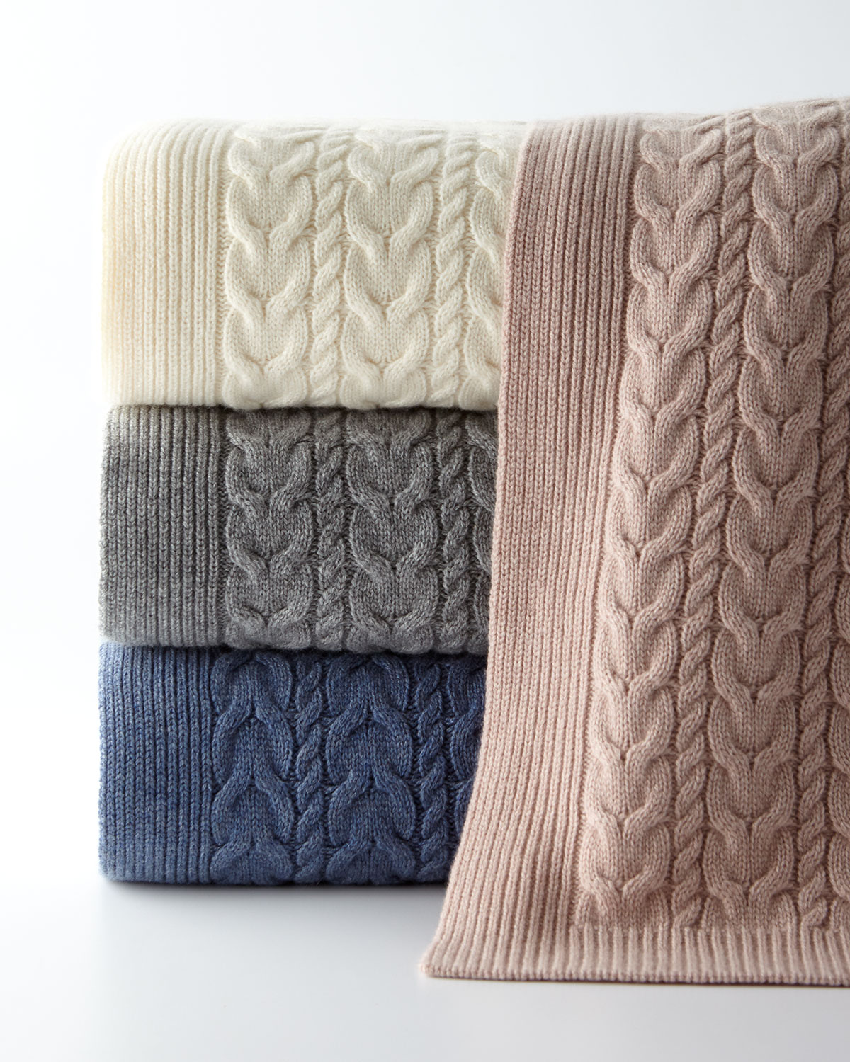 Twisted Cable Throw Blanket, 50