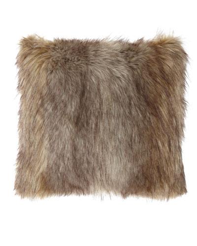 Carte Le Blanche Wolf Faux-Fur Boutique Pillow