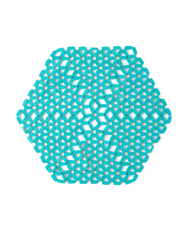 Seafoam Hexagon Bamboo Placemat