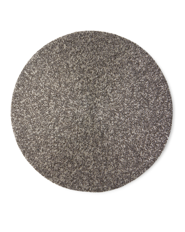 Handmade Confetti Beaded Placemat, Gunmetal