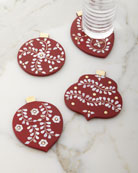 Kim Seybert Christmas Ornament Coasters, 4-Piece Set