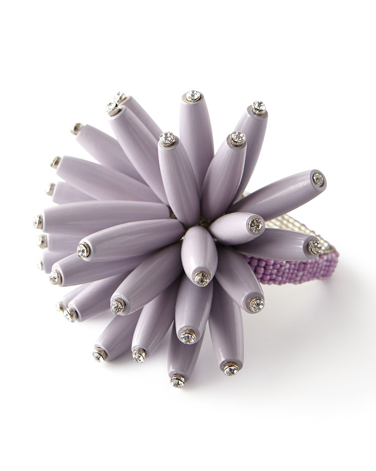 Constellation Wooden Beaded Napkin Ring, Lilac
