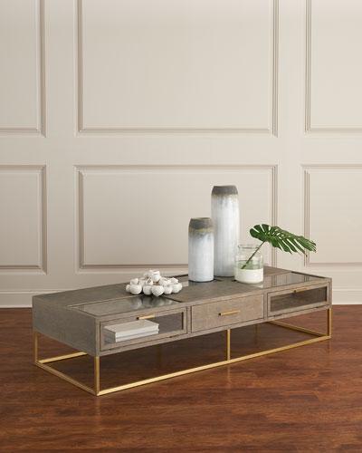 Wayland Wood Metal Coffee Table