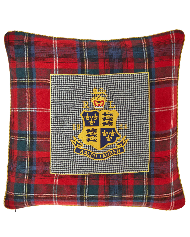 Queensbury Crest Decorative Pillow