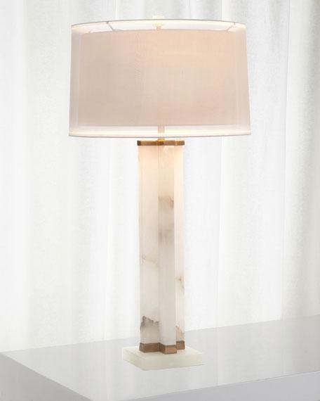John-Richard Collection Alabaster Cross Table Lamp