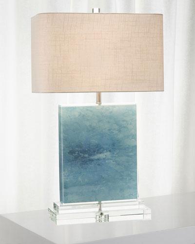 Ocean Canvas/Acrylic Table Lamp