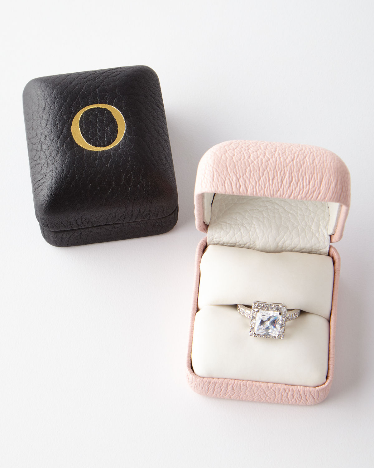 """I Do"""" Leather Ring Box"""", Pink"""