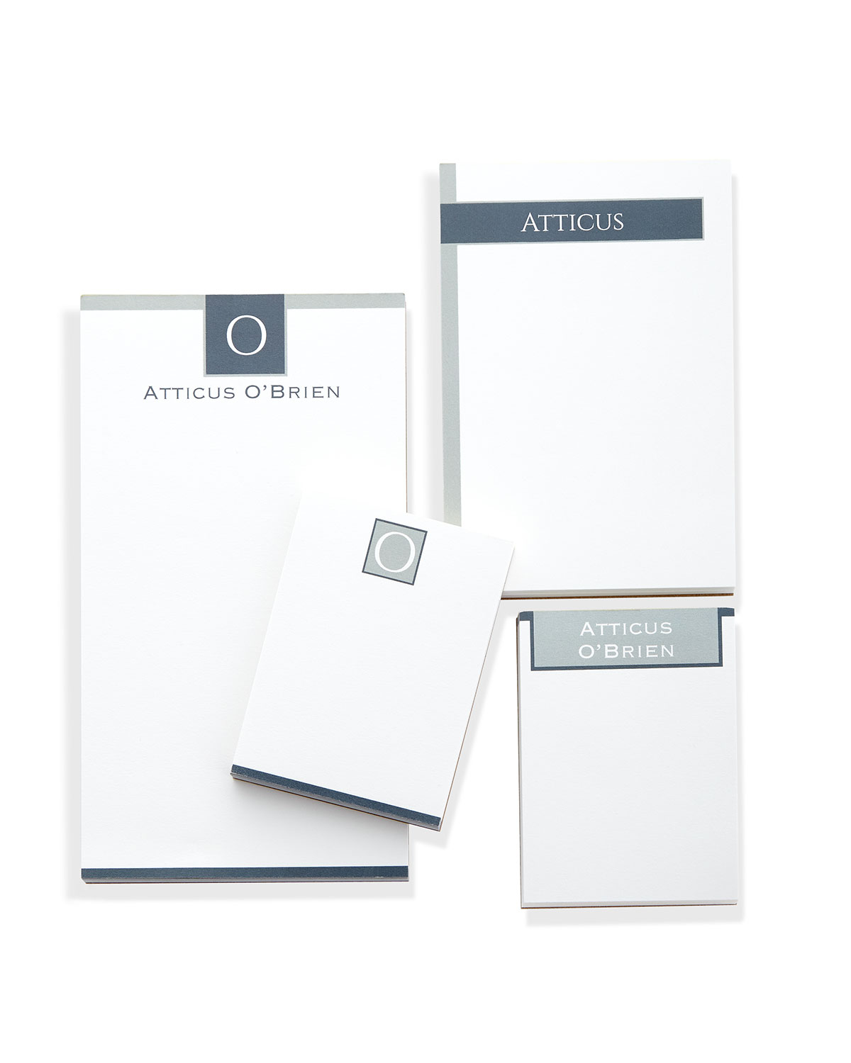 Bold Monogram Notepad Set