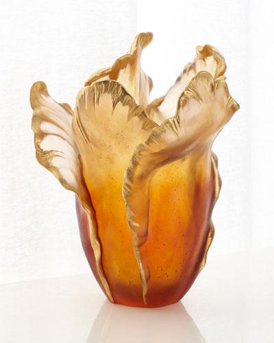 Hand Painted Vase Neiman Marcus