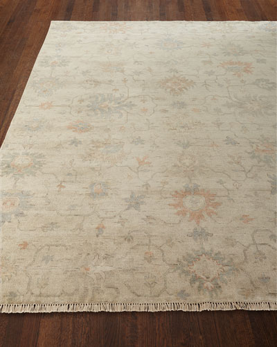 Mykia Hand-Knotted Oushak Rug, 5' x 7'