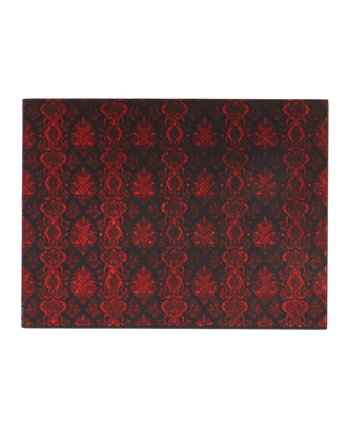 Nomi K Home decors LACE GLASS PAINTED MIRROR PLACEMAT, RED/BLACK