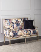 Massoud Windsor Floral Settee and Matching Items &