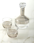 Tom Dixon Tank Platinum Stripe Whiskey Set