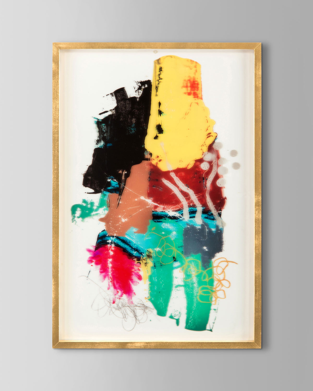 """Handcrafted gicle on acrylic by Jamie Hollis. Acrylic and wood. 25""""W x 2""""D x 37""""T. Made in the USA. Weight, 11 lbs. Boxed weight, approximately 19 lbs."""