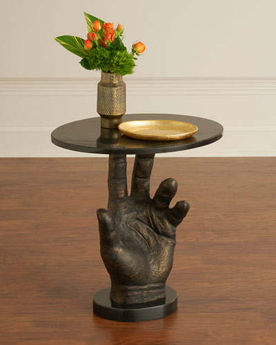Poe Hand Styled Side Table